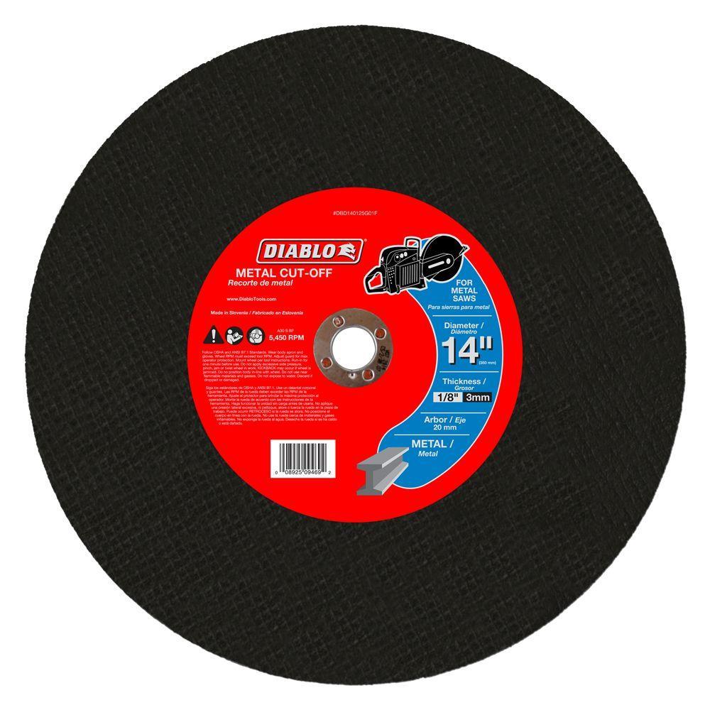 14 in. x 1/8 in. x 20 mm Metal High Speed Cut-Off Disc (5-Pack)