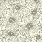 Advantage 8 in. x 10 in. Vivienne Taupe Floral Wallpaper Sample