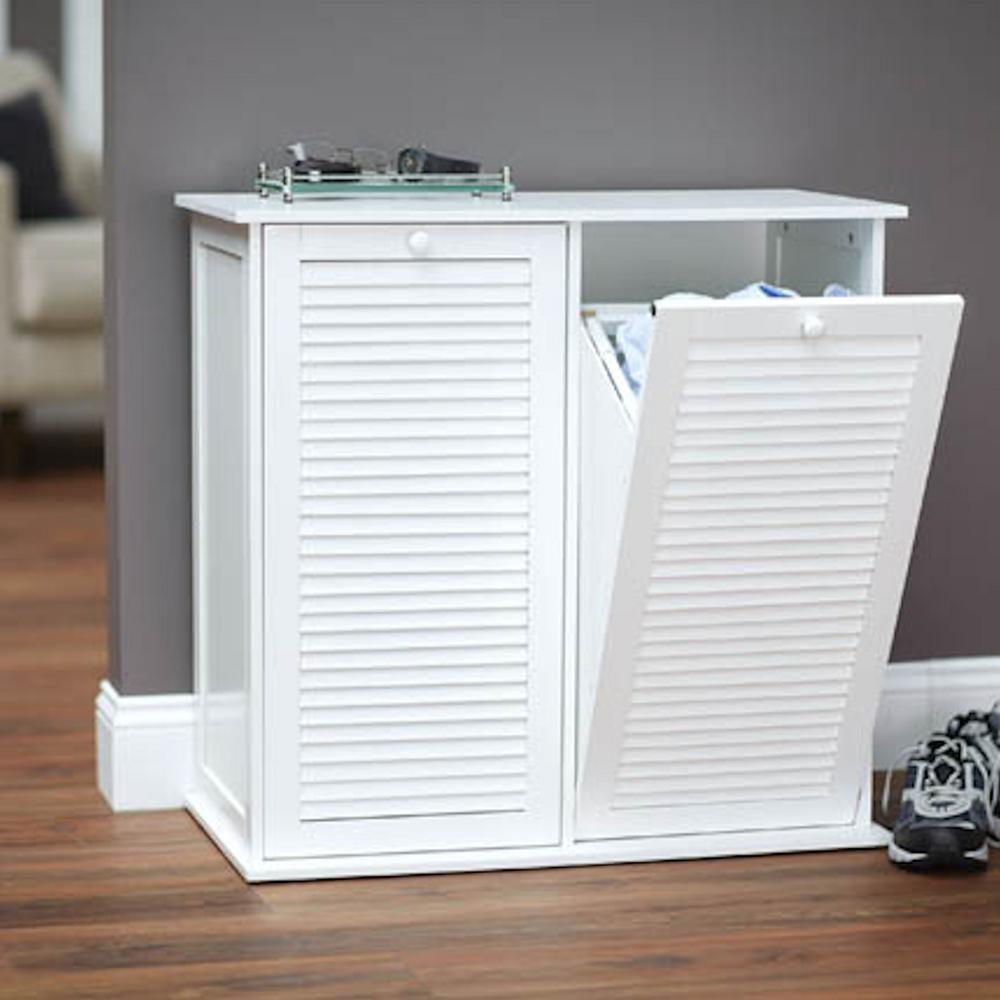 Household Essentials Tilt Out Cabinet Sorter, Shutter, White