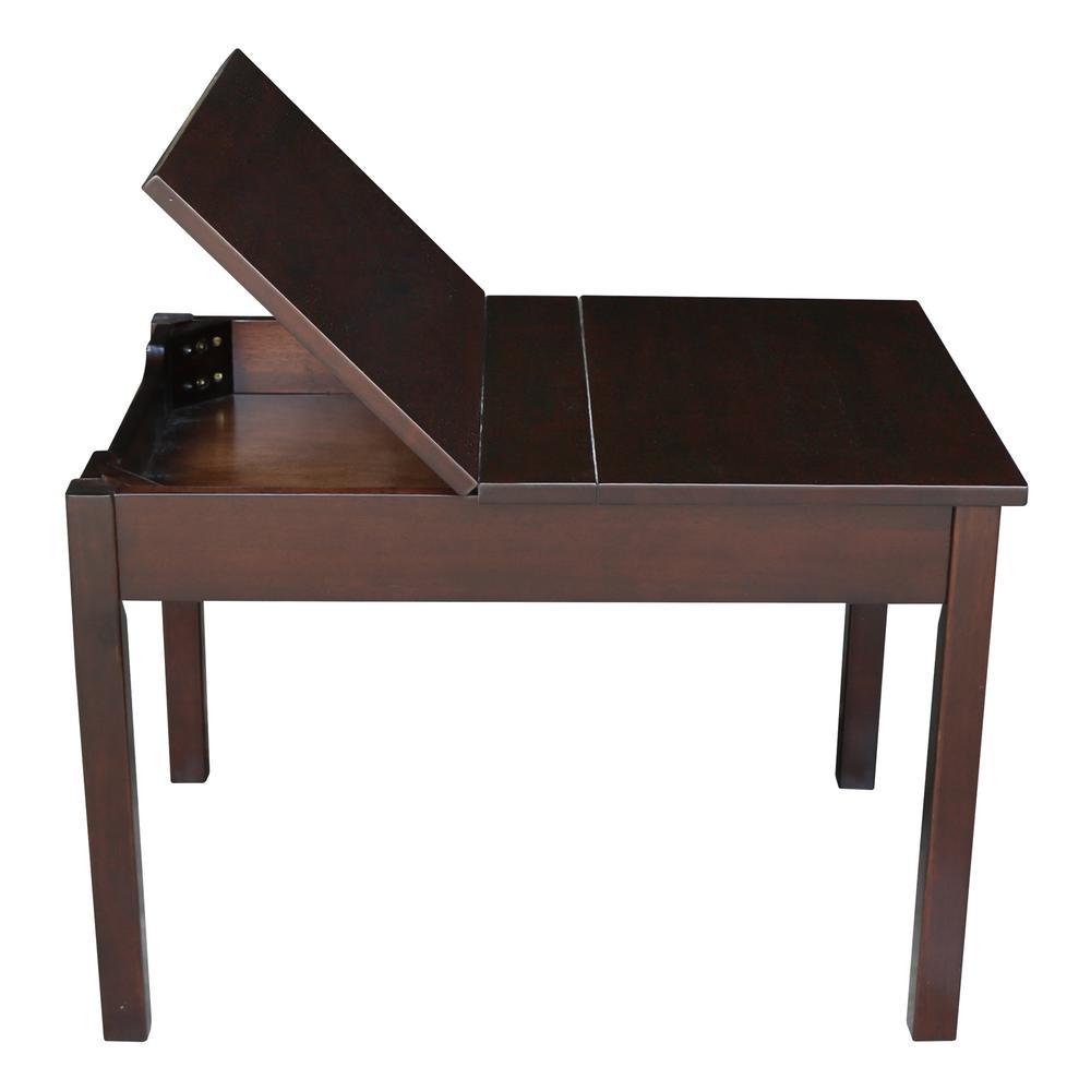 Awesome International Concepts Rich Mocha Kids Lift Top Storage Dailytribune Chair Design For Home Dailytribuneorg