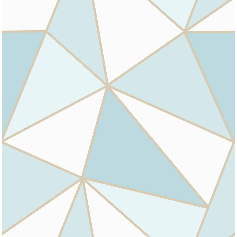 . Apex Blue Geometric Wallpaper
