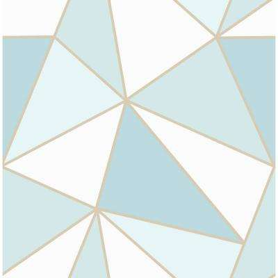 Apex Blue Geometric Strippable Roll (Covers 56.4 sq. ft.)