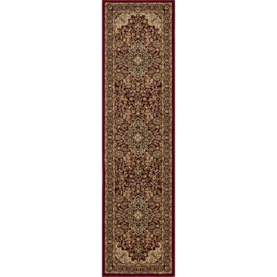 Silk Road Red 2 ft. x 7 ft. Medallion Runner Rug