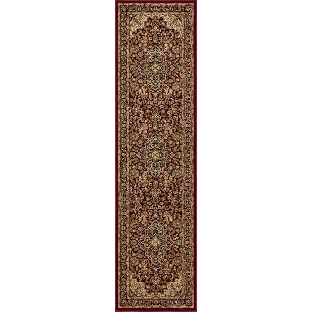 Silk Road Red 2 ft. x 7 ft. Medallion Runner Rug