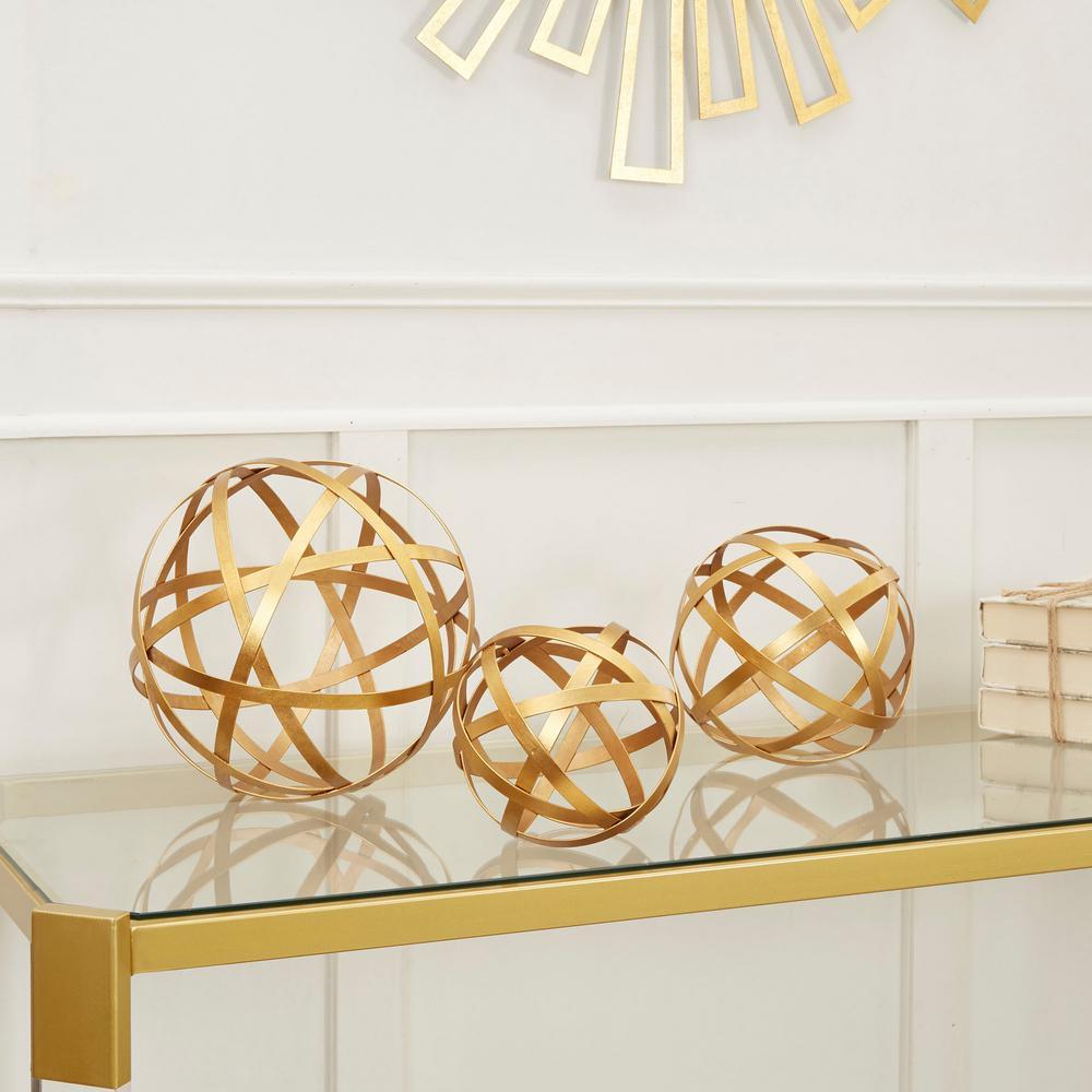 Band Decorative Sphere Metal (Set of 3)