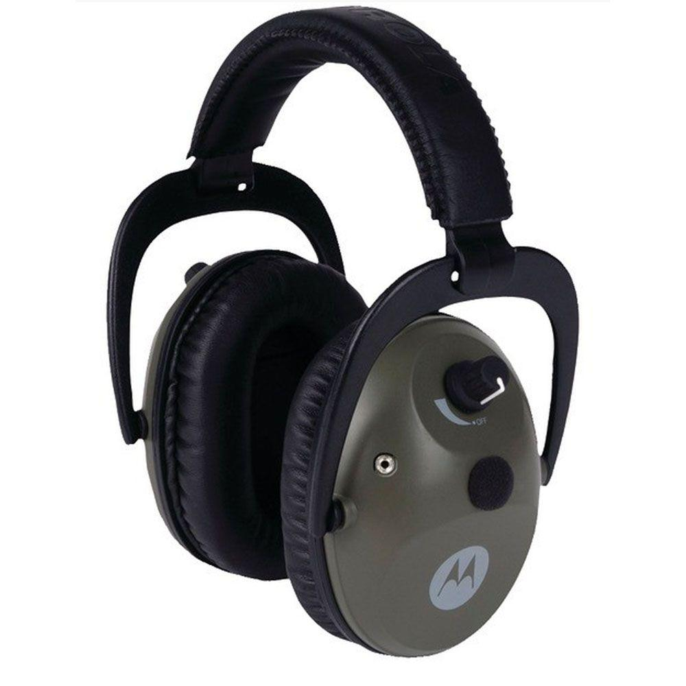 Motorola Protective Noise Canceling Earpads with PTT Microphone Cable