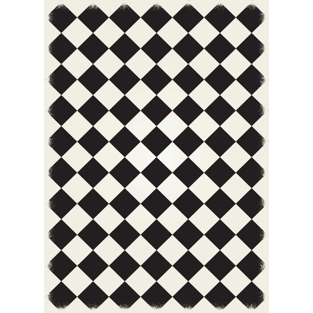 aspen brands diamond european design 5ft x 7ft black white with a