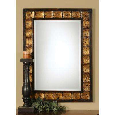 38 in. x 28 in. Mahogany Framed Mirror