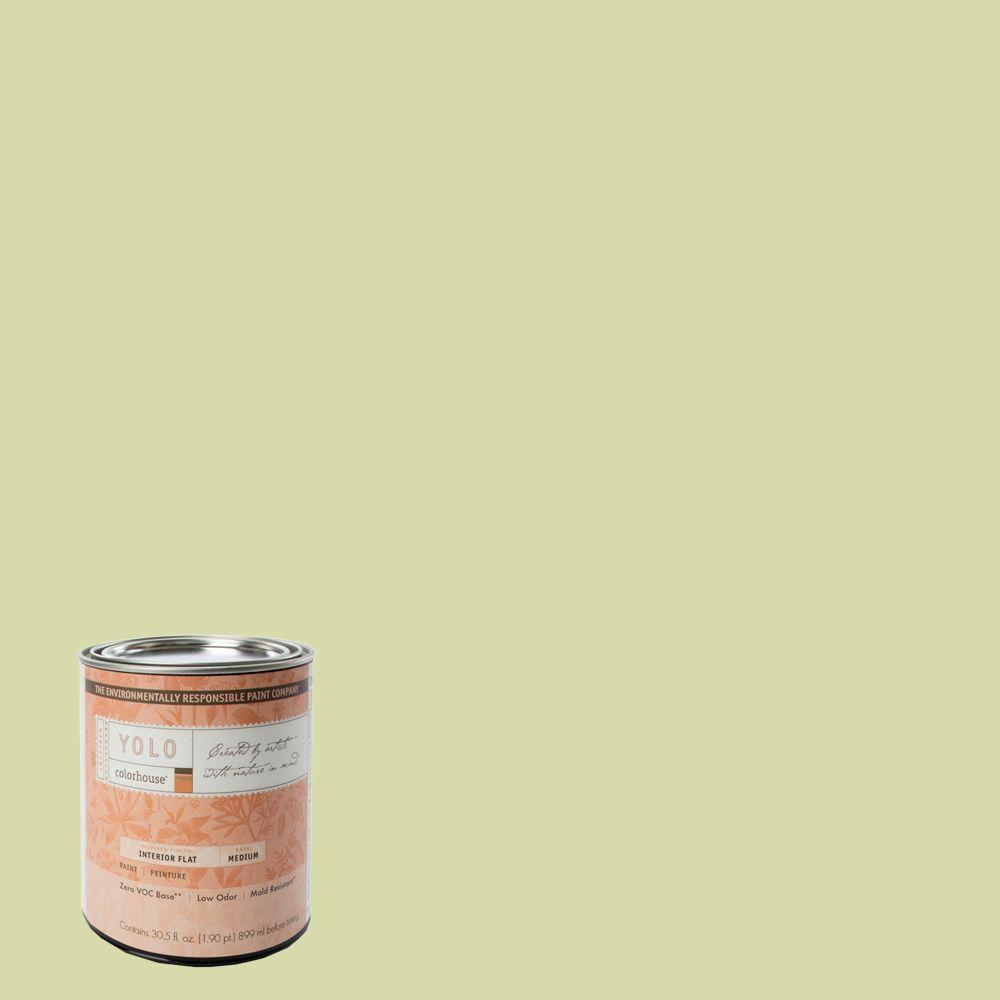 YOLO Colorhouse 1-Qt. Thrive .01 Flat Interior Paint-DISCONTINUED