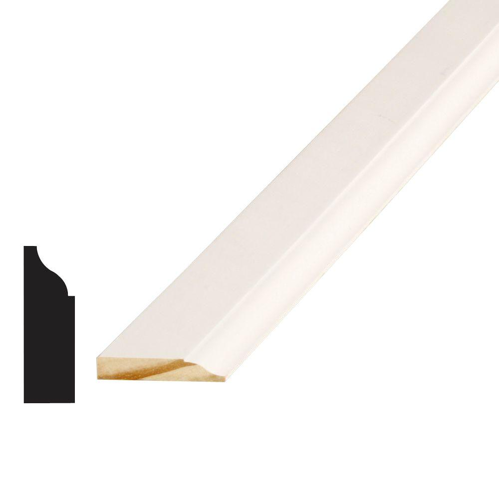 Alexandria Moulding WM 936 7/16 in. x 1-3/8 in. x 84 in. Pine Primed Finger-Jointed Stop Moulding
