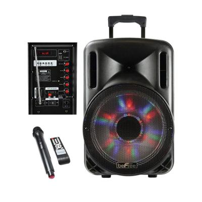12 in. 2500-Watt Bluetooth Portable Party PA Speaker with Illuminating Lights