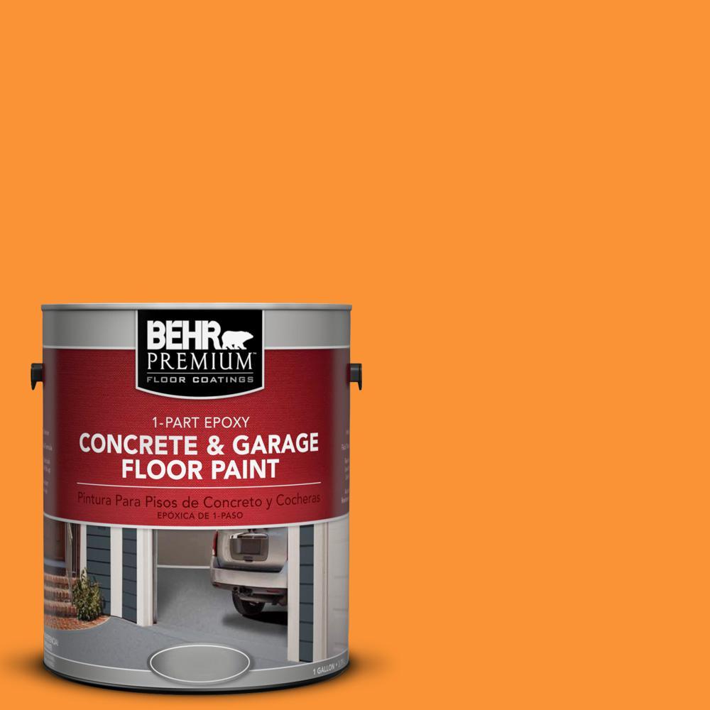 P240 7 Joyful Orange 1 Part Epoxy Concrete And Garage Floor Paint 93001 The Home Depot