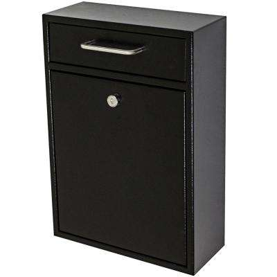 Olympus Locking Wall-Mount Drop Box with High Security Patented Lock, Black