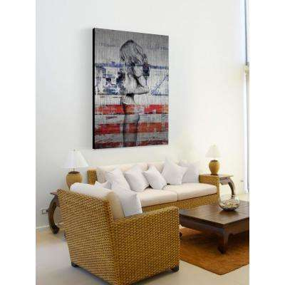 "36 in. H x 24 in. W ""Behind the Stripes"" by Parvez Taj Printed Brushed Aluminum Wall Art"