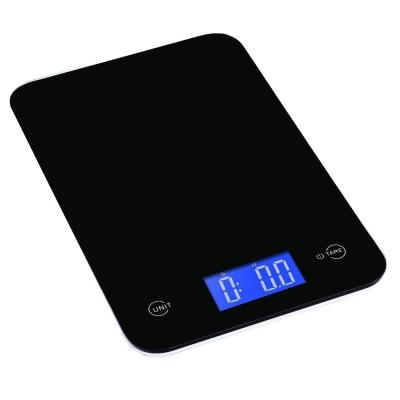 Touch Professional Digital Kitchen Scale (18 lbs. Edition), Tempered Glass in Elegant Black