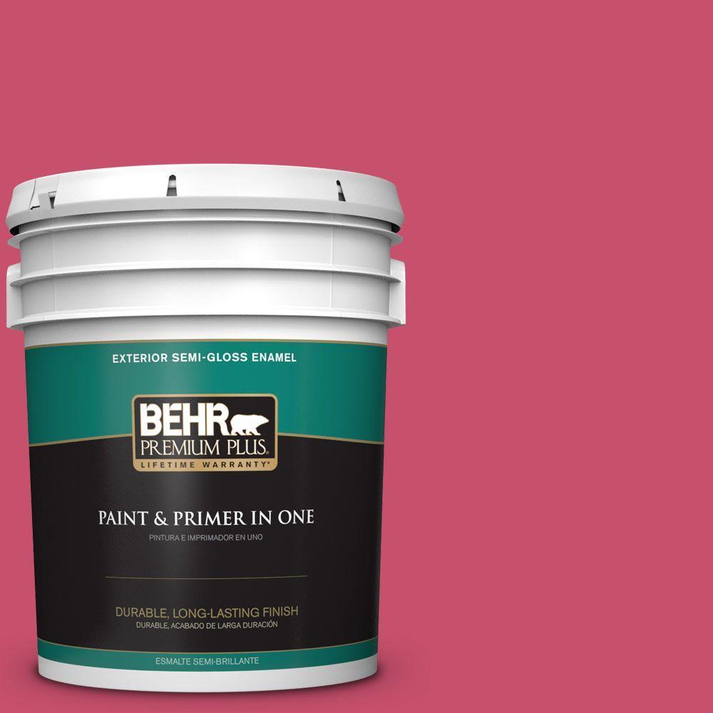 BEHR Premium Plus 5-gal. #120B-7 Tropical Smoothie Semi-Gloss Enamel Exterior Paint