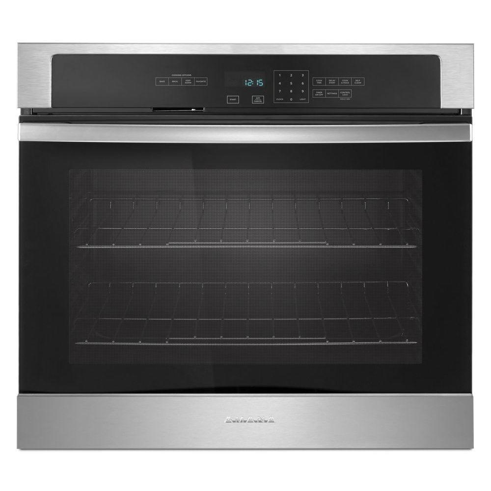 Amana 27 in. Single Electric Wall Oven Self-Cleaning in S...