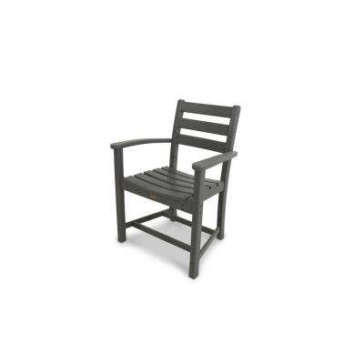 Monterey Bay Stepping Stone Plastic Outdoor Patio Dining Arm Chair
