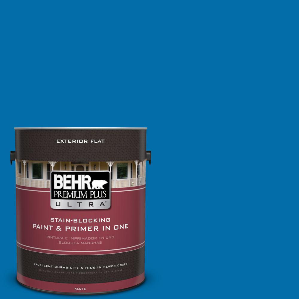 1 gal. #560B-7 Cerulean Flat Exterior Paint