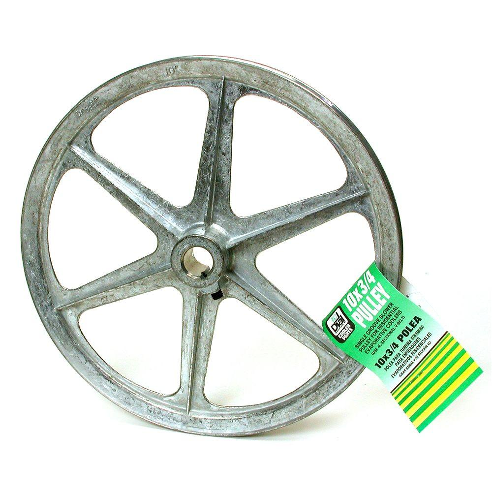 null 10 in. x 3/4 in. Evaporative Cooler Blower Pulley