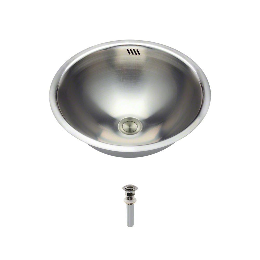 Mr Direct Tri Mount Bathroom Sink In Stainless Steel With