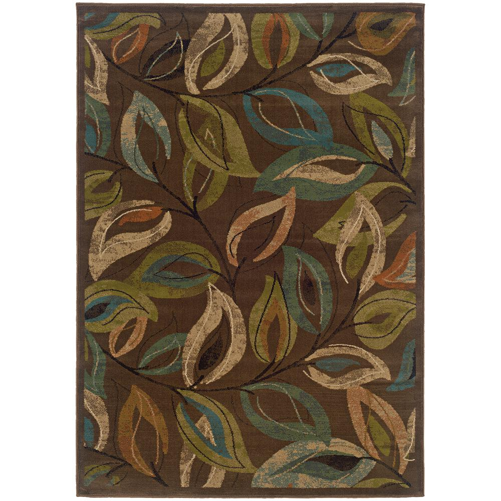 Whirlwind Brown 5 ft. x 7 ft. 6 in. Area Rug