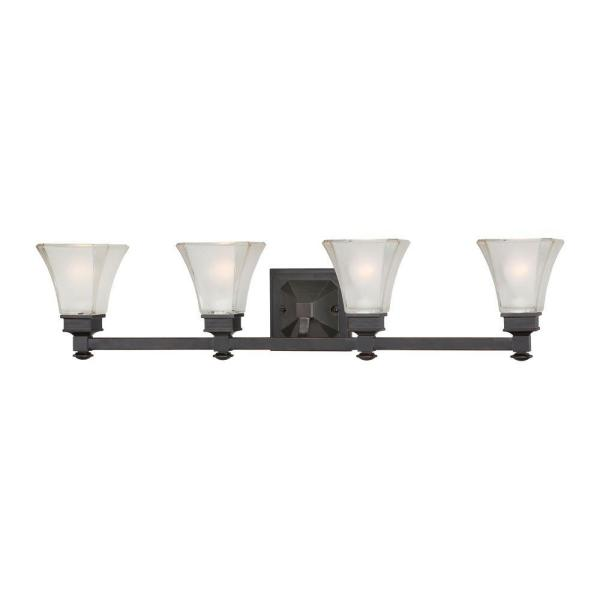 Canterbury 4-Light Biscayne Bronze Interior Incandescent Bath Vanity Light