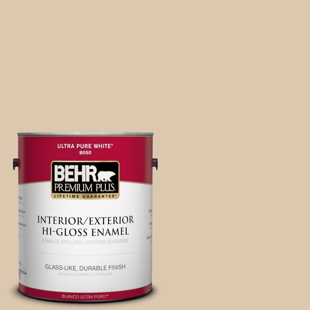 BEHR Premium Plus 1-gal. #N270-2 Lentil Hi-Gloss Enamel Interior/Exterior Paint