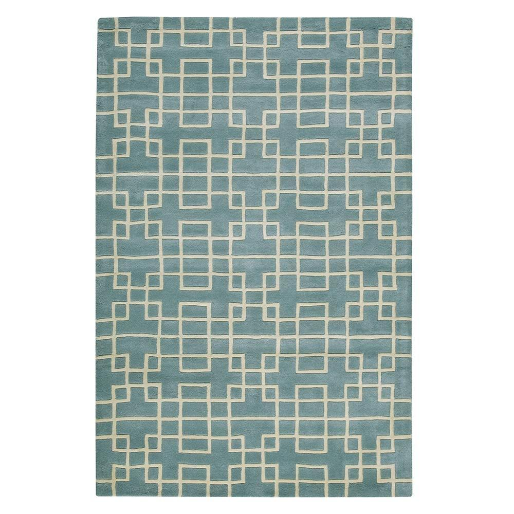 Home Decorators Collection Downtown Blue 5 ft. 3 in. x 8 ft. Area Rug