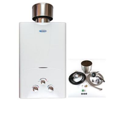 3.1 GPM Liquid Propane Tankless Water Heater Residential with Rain Cap, Showerhead, Gas Regulator and Hose