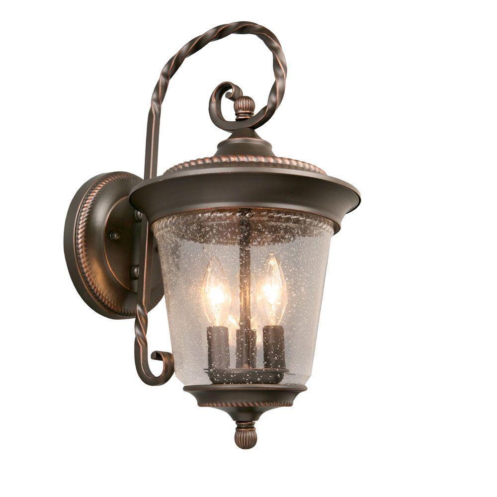 Hampton Bay - Bronze - Outdoor Lanterns - Outdoor Lanterns ...