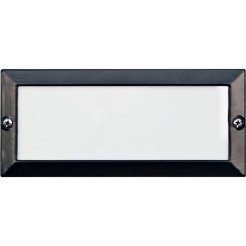 Ashler 1-Light Black Outdoor Recessed Step Light