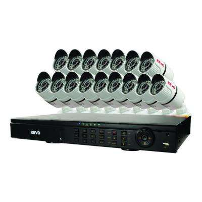 T-HD 16-Channel 2TB DVR Surveillance System with 16 T-HD 1080p Bullet Cameras