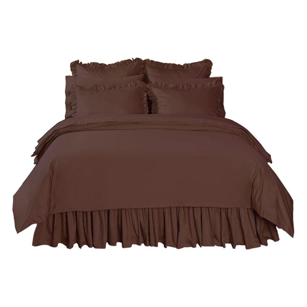Home Decorators Collection Solid Pinecone Path King Duvet