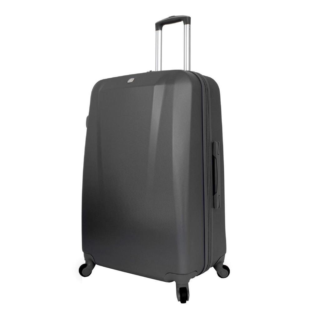 28 in. Upright Hardside Spinner Suitcase in Black