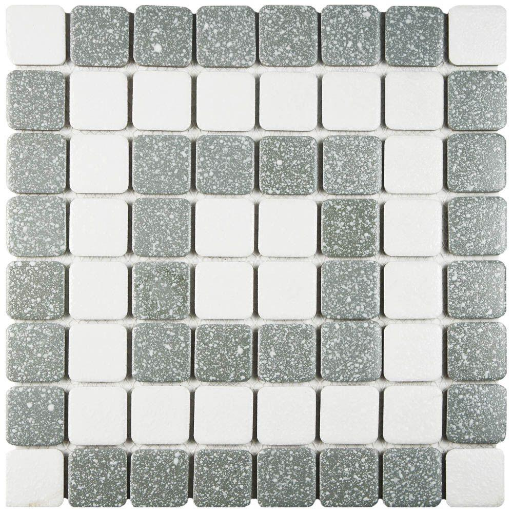 Merola Tile Crystalline Market Square Grey 11 3 4 In X