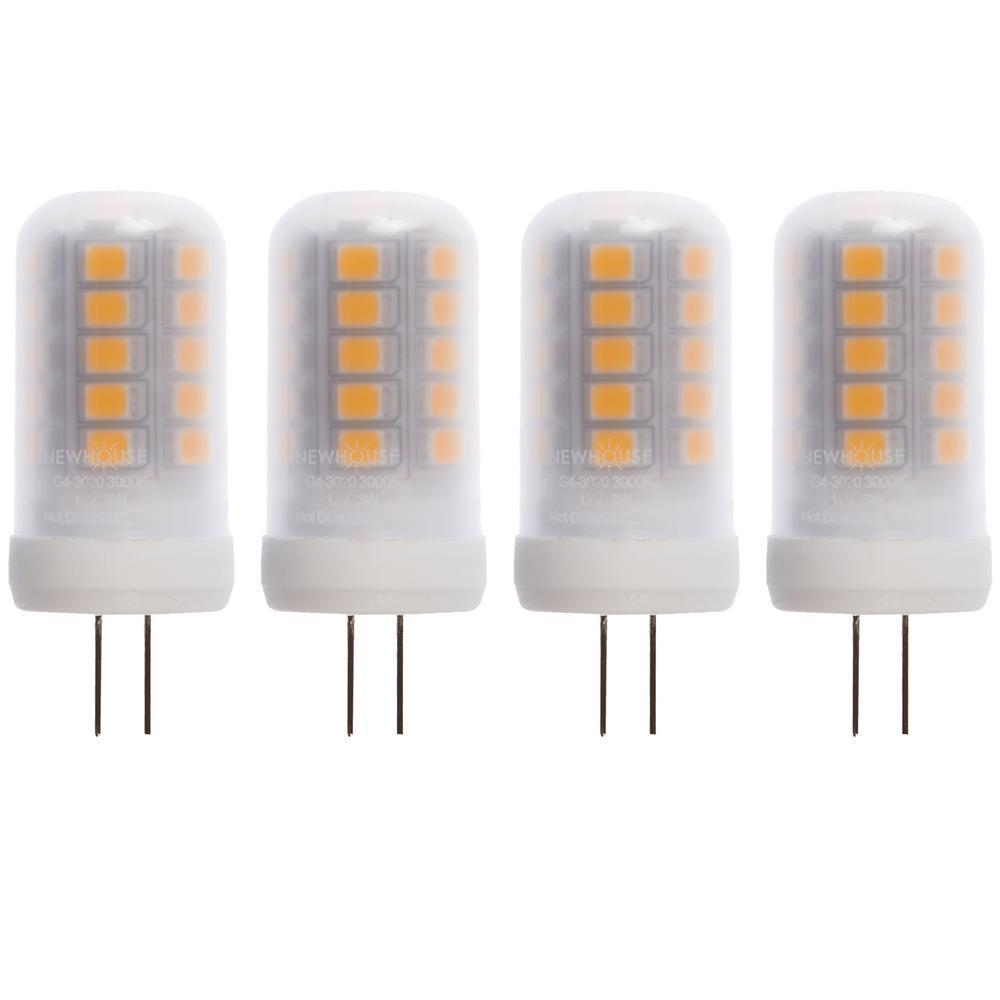20-Watt Equivalent G4 LED Light Bulb, Warm White (4-Pack)