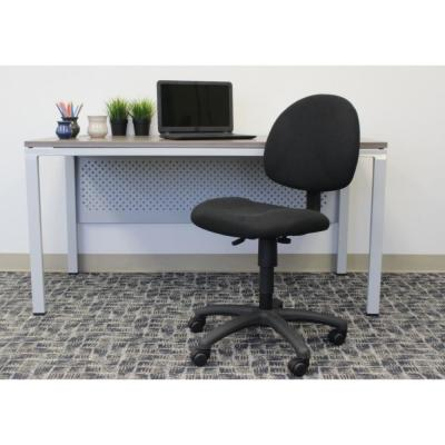 HomePro Armless Task Chair. Black Tweed Fabric. Pnuematic lift.