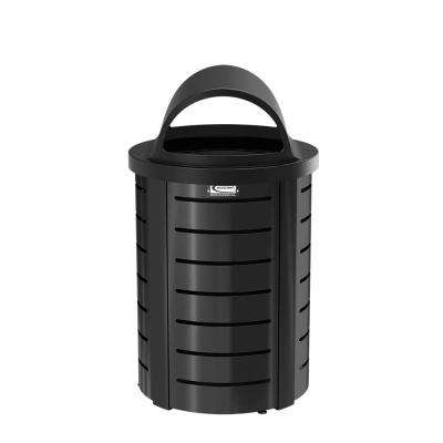 35 Gal. Metal Touchless Outdoor Trash Can