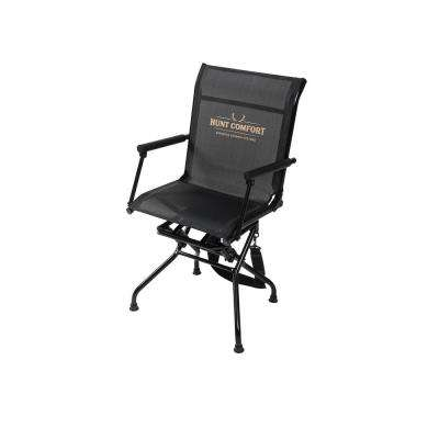 Hunt Comfort Multi Position Black and Camo Mesh Lite Swivel Hunting Chair