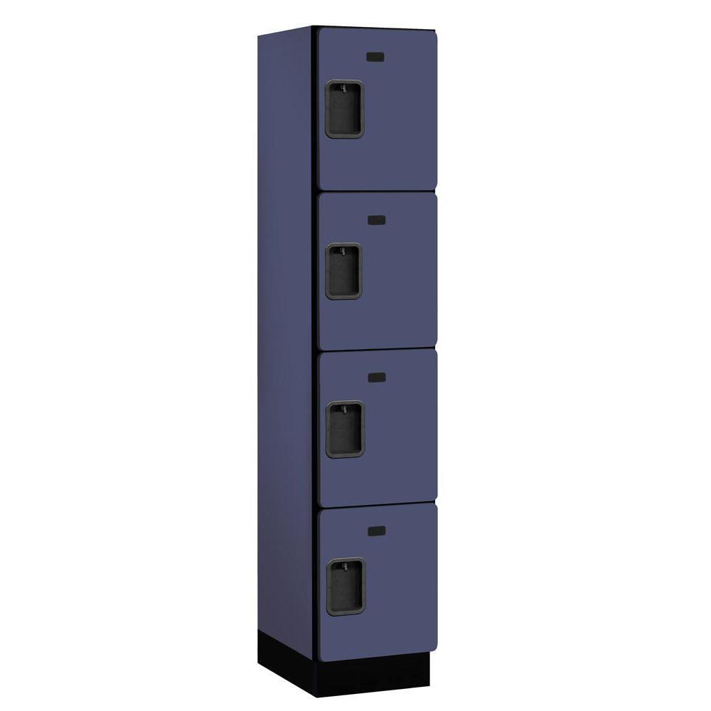 24000 Series 4-Tier 18 in. D Extra Wide Designer Particle Board Locker in Blue
