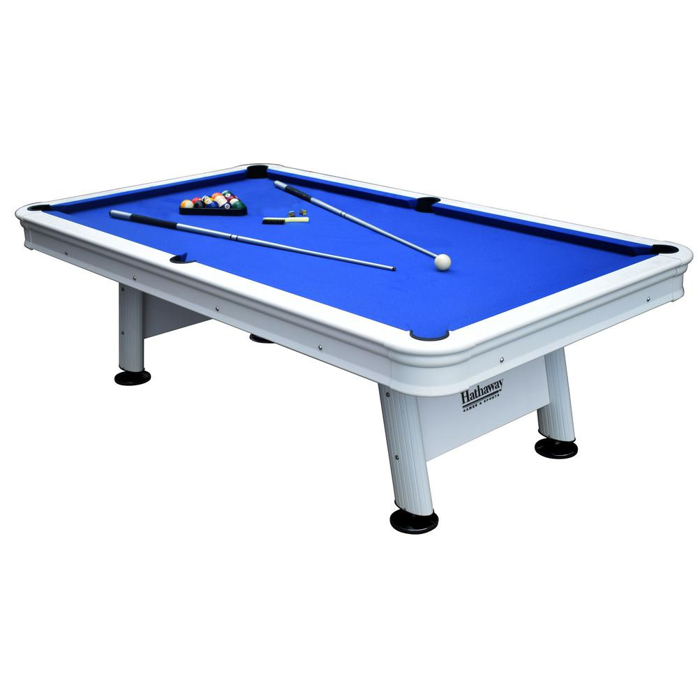 Alpine 8 ft. Outdoor Pool Table with Aluminum Frame and Waterproof