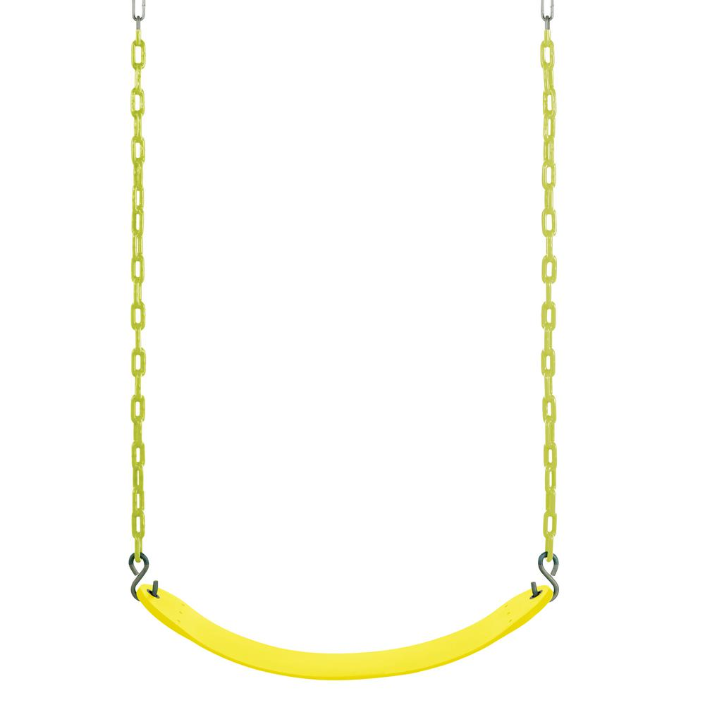 Swingan Belt Swing for All Ages with Vinyl Coated Chain i...