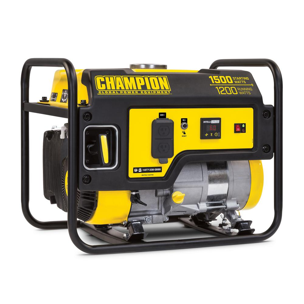 Champion Power Equipment 1,200-Watt Gasoline Powered Recoil Start Portable Generator with Champion 80 cc Engine