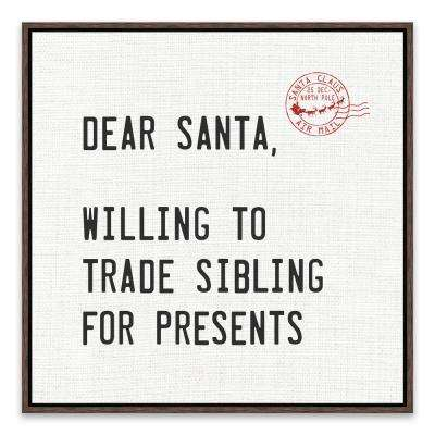"""""""Willing To Sell Siblings For Presents"""" by Lot26 Studio Framed Canvas Wall Art"""