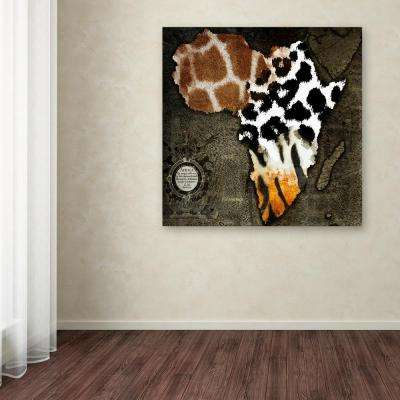 "24 in. x 24 in. ""Animal Map Of Africa"" by Color Bakery Printed Canvas Wall Art"
