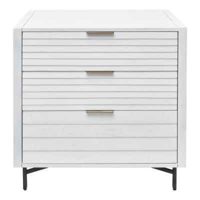 Portland 3-Drawer White Chest of Drawers