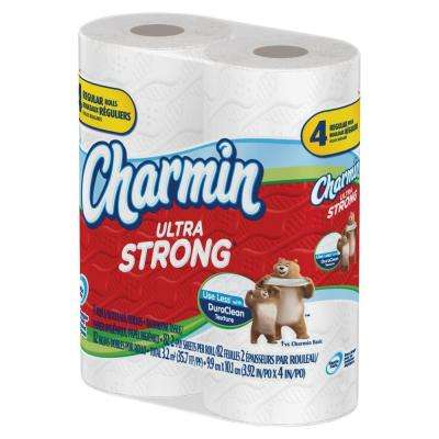 3.88 in. x 4 in. Ultra Strong Bathroom Tissue 2-Ply (82 Sheets per Roll 4/Pack)