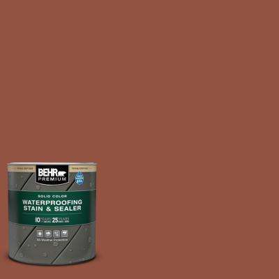 1 qt. #SC-130 California Rustic Solid Color Waterproofing Exterior Wood Stain and Sealer