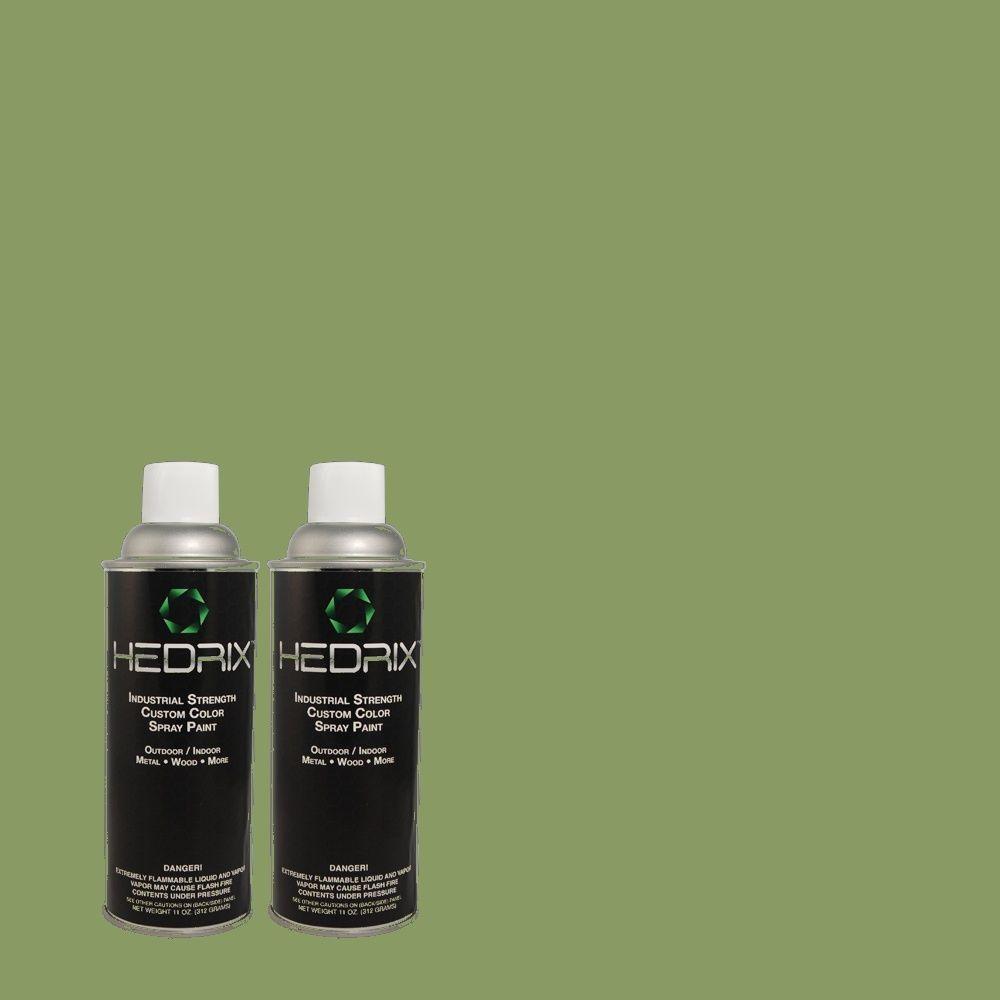 Hedrix 11 oz. Match of PPU11-3 Botanical Green Gloss Custom Spray Paint (2-Pack)